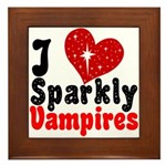 I Love Sparkly Vampires Framed Tile