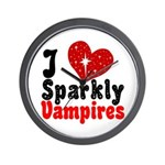 I Love Sparkly Vampires Wall Clock