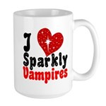 I Love Sparkly Vampires Large Mug