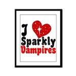 I Love Sparkly Vampires Framed Panel Print