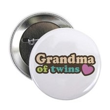 "Grandma of Twins 2.25"" Button"