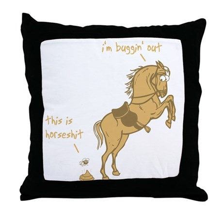 I'm Buggin' Out! Throw Pillow