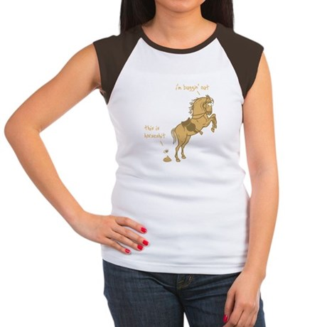 I'm Buggin' Out! Womens Cap Sleeve T-Shirt