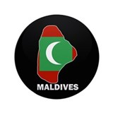"Flag Map of maldives 3.5"" Button"