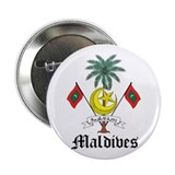 "Maldivian Coat of Arms Seal 2.25"" Button"