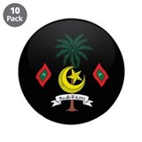 "Coat of Arms of maldives 3.5"" Button (10 pack)"