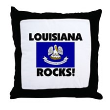 Louisiana Rocks Throw Pillow
