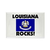Louisiana Rocks Rectangle Magnet