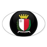 Coat of Arms of Malta Oval Decal