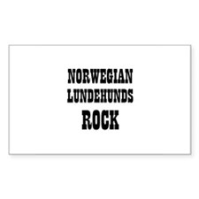 NORWEGIAN LUNDEHUNDS ROCK Rectangle Decal