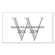 Thank You Mr. President Rectangle Bumper Stickers