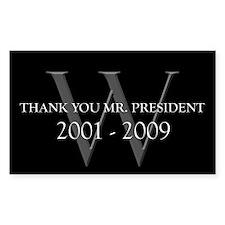 Thank You Mr. President Rectangle Sticker 10 pk)