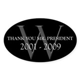 Thank You Mr. President Oval Decal