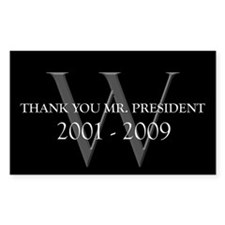 Thank You Mr. President Rectangle Decal