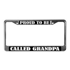 Proud Grandpa License Plate Frame