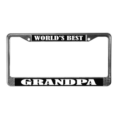 World's Best Grandpa License Frame