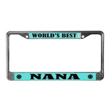 World's Best Nana License Plate Frame
