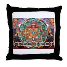 Funny Free tibet Throw Pillow