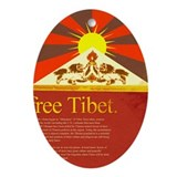 Cute Save tibet Oval Ornament