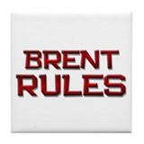 brent rules Tile Coaster