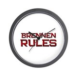 brennen rules Wall Clock