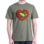 ASL Frog in Heart Dark T-Shirt