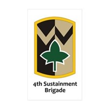 4th Sustainment Brigade Rectangle Sticker 10 pk)