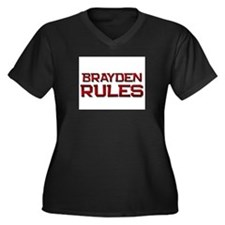 brayden rules Women's Plus Size V-Neck Dark T-Shir
