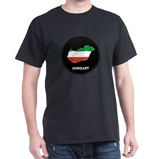 Flag Map of Hungary T-Shirt