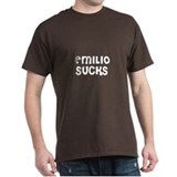 Emilio Sucks Black T-Shirt