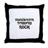 MANCHESTER TERRIERS ROCK Throw Pillow