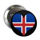 "I love Iceland Flag 2.25"" Button (10 pack)"