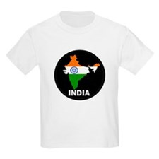 Flag Map of India T-Shirt