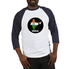 Flag Map of India Baseball Jersey