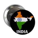 "Flag Map of India 2.25"" Button"