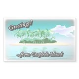 Greetings Rectangle Sticker 10 pk)