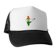 India Flag Map Trucker Hat