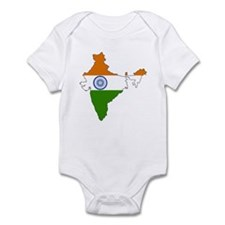 India Flag Map Infant Bodysuit