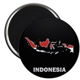 "Flag Map of Indonesia 2.25"" Magnet (10 pack)"