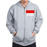 Indonesia Flag Zip Hoody