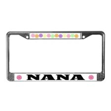 Flower Power Nana License Plate Frame