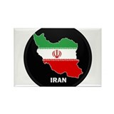 Flag Map of Iran Rectangle Magnet