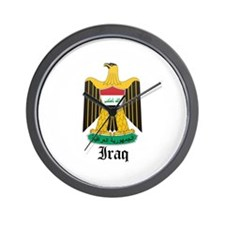 Iraqi Coat of Arms Seal Wall Clock