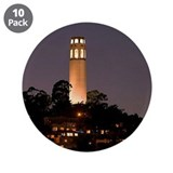"Coit Tower at Night 3.5"" Button (10 pack)"