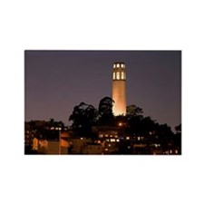 Coit Tower at Night Rectangle Magnet (10 pack)