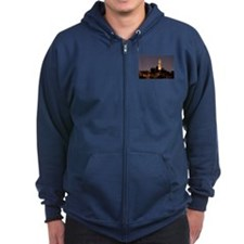 Coit Tower at Night Zip Hoodie