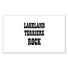 LAKELAND TERRIERS ROCK Rectangle Decal