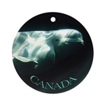 Canada Souvenir Beluga Whale Ornament (Round)