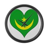 I Love Mauritania Large Wall Clock