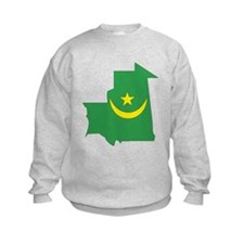Mauritania Flag Map Sweatshirt